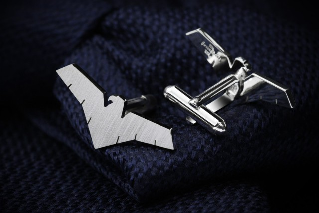 Eagle cufflinks in sterling silver