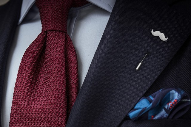 Mr. Mustache lapel pin
