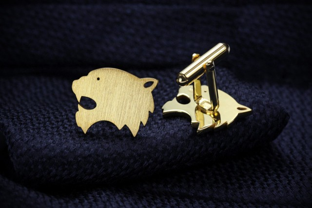 Gold plated Tiger cufflinks