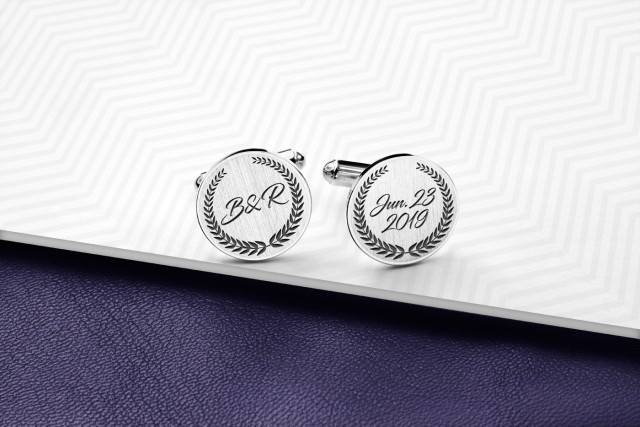 Wedding cufflinks personalized