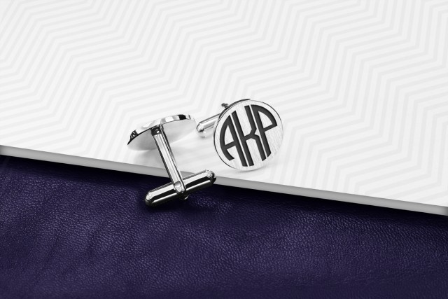 Engraved cufflinks with your monogram