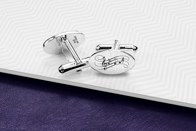Engraved Thistle cufflinks