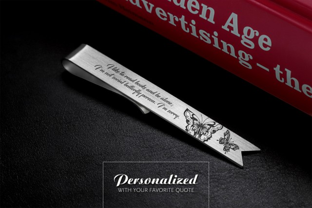 Engraved bookmark in 925 sterling silver