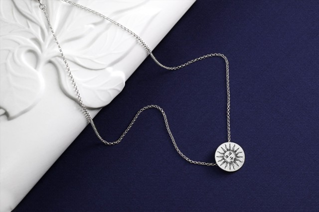 925 sterling silver necklace - Dandelion